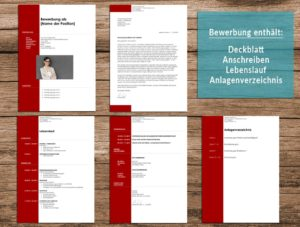 Bewerbung Layout 15 in rot