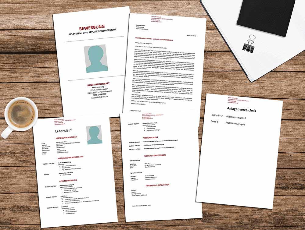 Bewerbung: Muster, Vorlagen & Designs | Karrierehelden