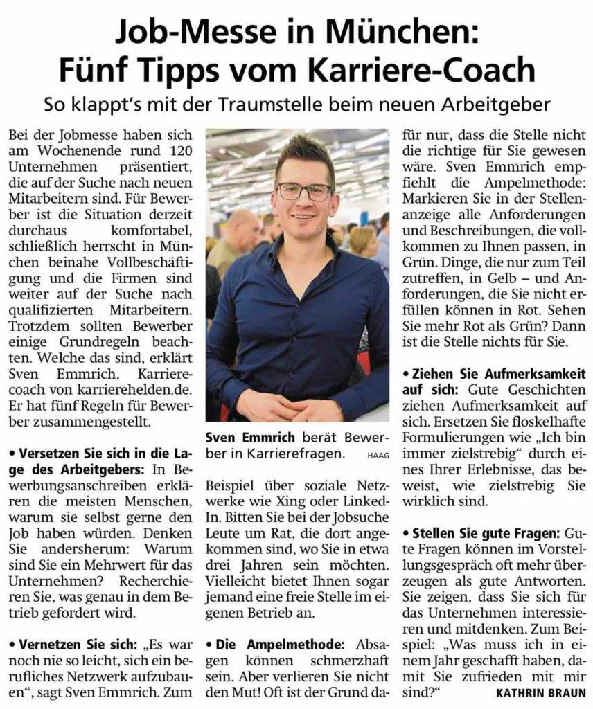 Interview Karrierehelden Münchner Merkur 02.2019