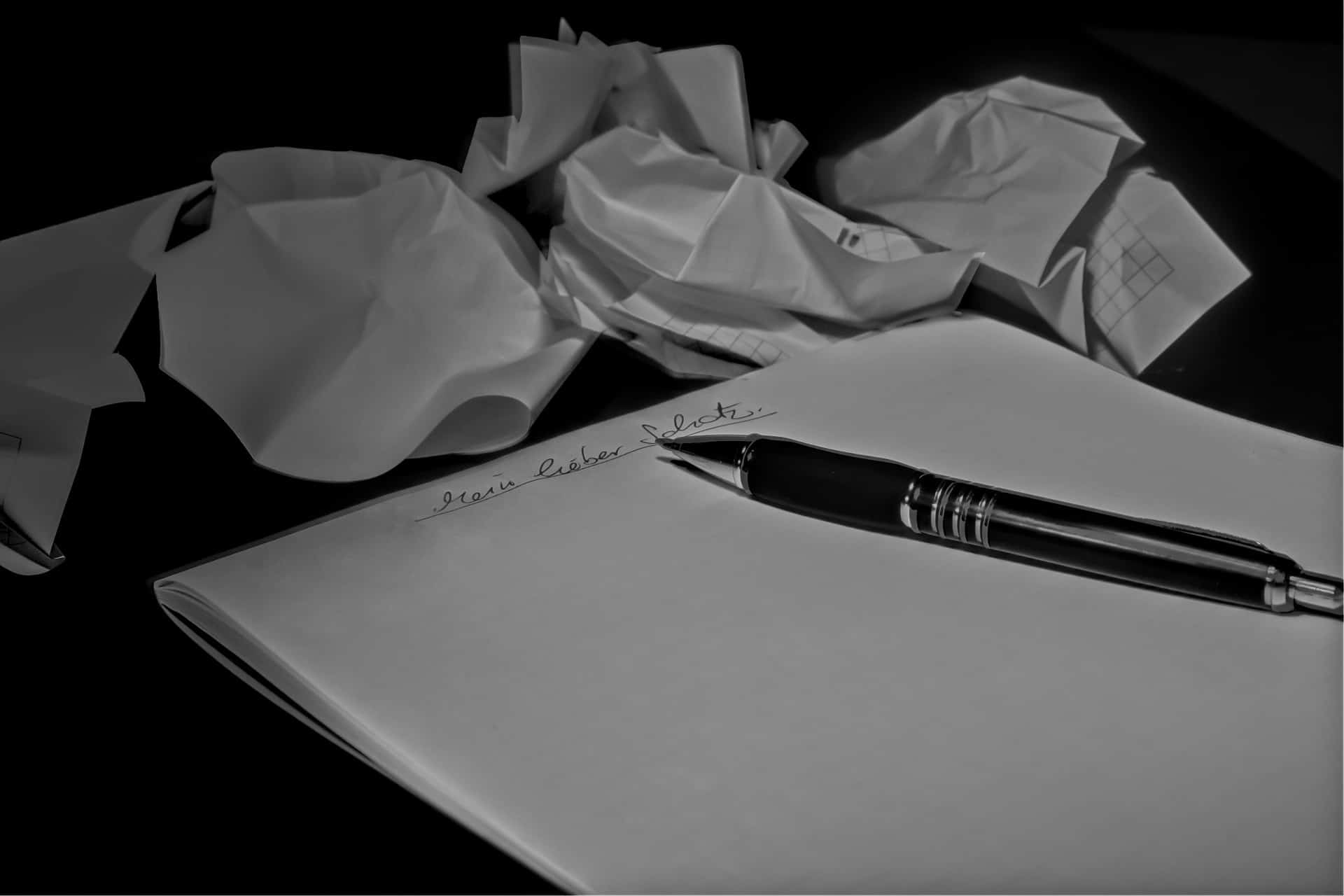 Neujahrsvorsatz Brief schreiben