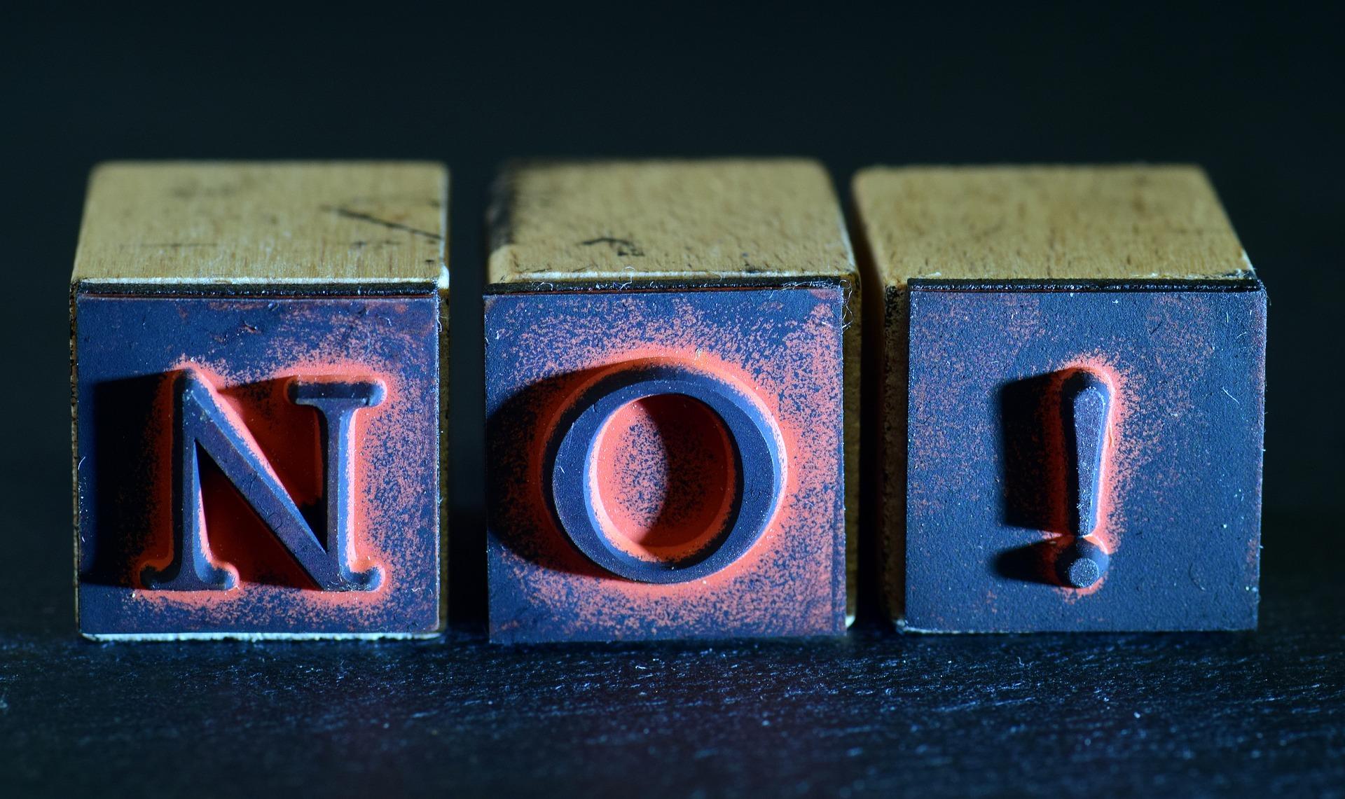 Durchsetzungsvermögen durch Nein sagen
