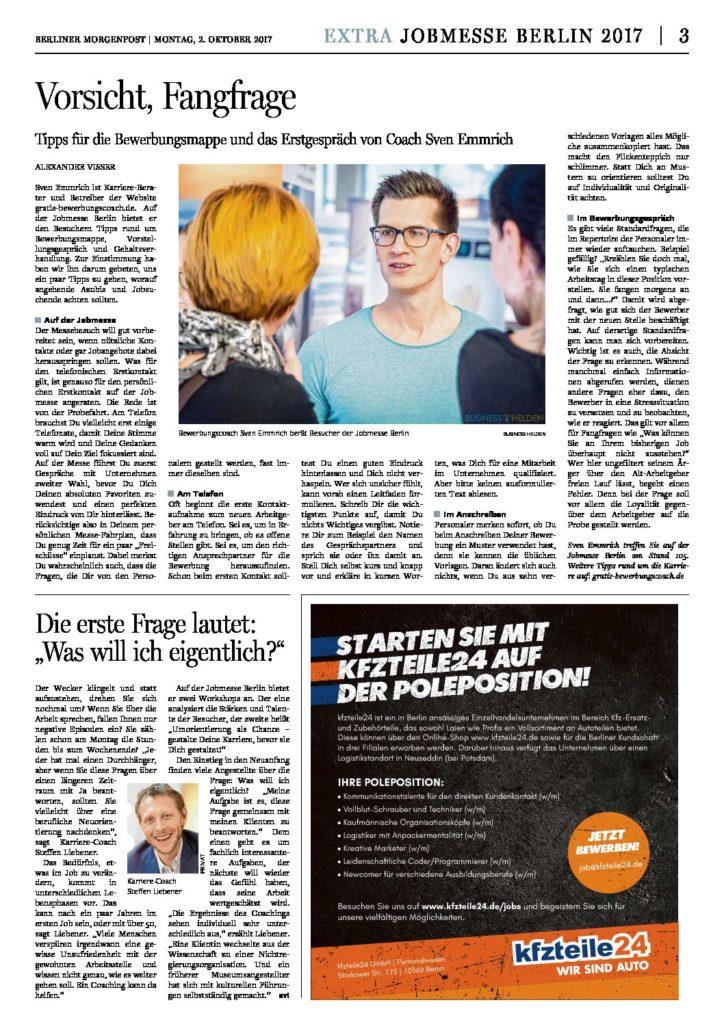 Berliner Morgenpost Sonderbeilage Jobmesse 10.2017