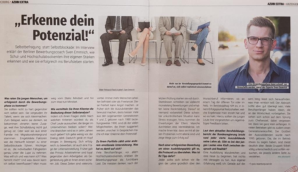 Interview Berliner Abendblatt AZUBI Extra 09.2017