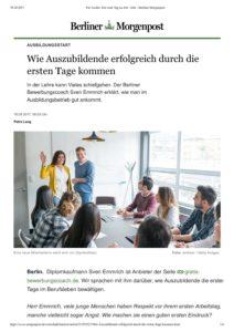 Berliner Morgenpost – Erfolg durch die ersten Tage als Azubi 07.2017